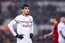 February 3, 2019 - Rome, Rome, Italy - Lucas Paqueta of Milan during the Serie A match between Roma and AC Milan at Stadio Olimpico, Rome, Italy on 3 February 2019. (Credit Image: © Giuseppe Maffia/NurPhoto via ZUMA Press)