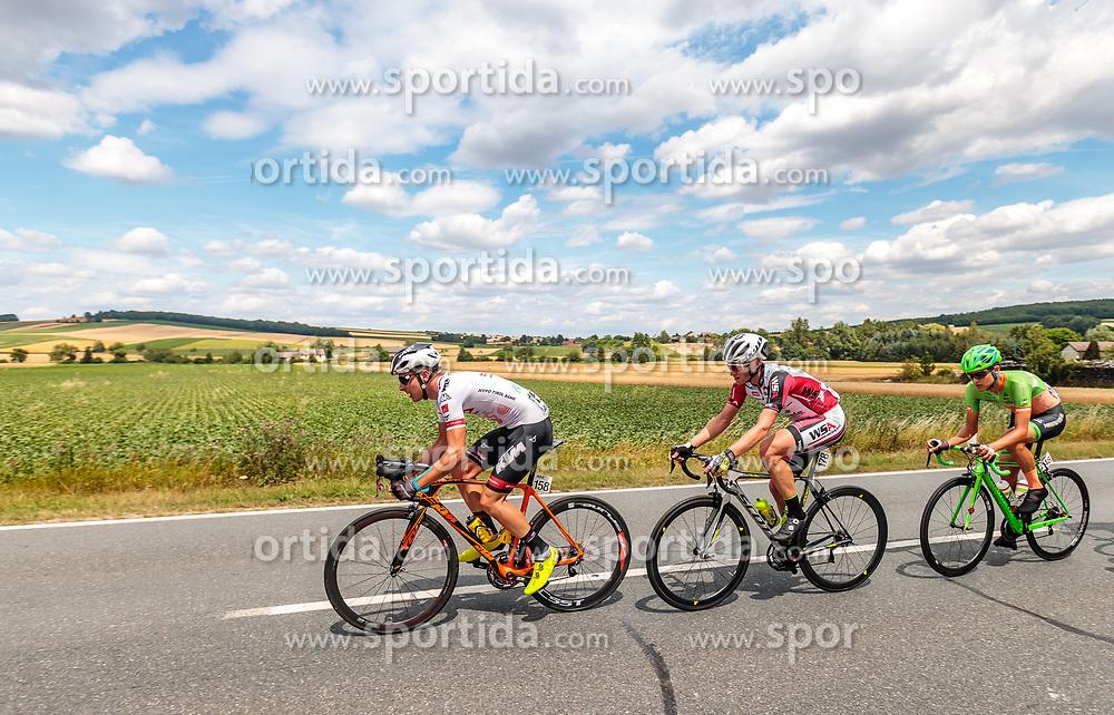 04.07.2017, Pöggstall, AUT, Ö-Tour, Österreich Radrundfahrt 2017, 2. Etappe von Wien nach Pöggstall (199,6km), im Bild Sebastian Schoenberger (AUT, Tirol Cycling Team), Helmut Trettwer (GER, WSA Greenlife), Dennis Paulus (AUT, Hrinkow Advarics Cycleang) // during the 2nd stage from Vienna to Pöggstall (199,6km) of 2017 Tour of Austria. Pöggstall, Austria on 2017/07/04. EXPA Pictures © 2017, PhotoCredit: EXPA/ JFK