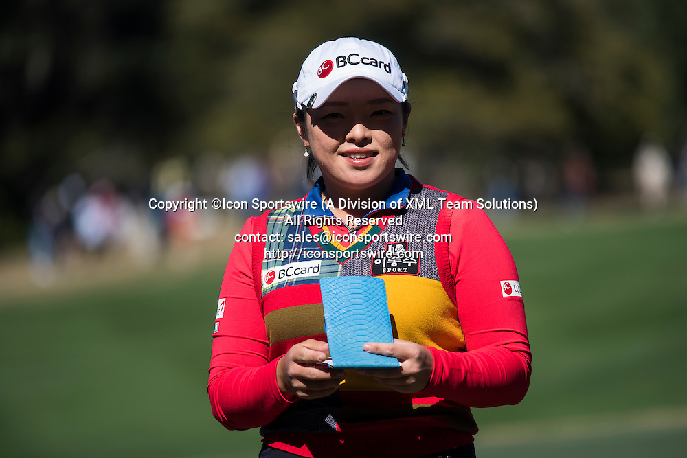 February 05, 2016: Ha Na Jang during the second round of the Coates Golf Championship in Ocala, FL. (Photograph by Roy K. Miller/Icon Sportswire)