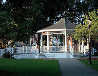 Image of the gazebo on the town common in Norwood MA. This is the site of band concerts, the kids Fourth of July Parade awards ceremony and a meeting place for friends on a warm summer's evening.