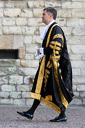 © Licensed to London News Pictures. 01/10/2018. London, UK. Lord Chancellor and Secretary of State for Justice David Gauke attends The Judges Service in Westminster Abbey, to mark the start of the legal year. The service dates back to the Middle Ages, and is attended by Justices of the Supreme Court, Judges and members of the legal profession. Photo credit : Tom Nicholson/LNP