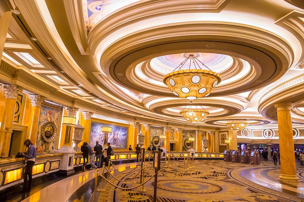 LAS VEGAS - NOV 24 : The Caesars Palace interior on October 05 2016 in Las Vegas. Caesars Palace is a luxury hotel and casino located on the Las Vegas Strip. Caesars has 3,348 rooms in five towers