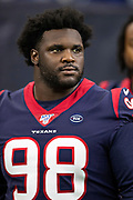 HOUSTON, TX - AUGUST 29:  D.J. Reader #98 of the Houston Texans walks onto the field before a game against the Los Angeles Rams during week four of the preseason at NRG Stadium on August 29, 2019 in Houston, Texas. The Rams defeated the Texans 22-10.   (Photo by Wesley Hitt/Getty Images) *** Local Caption *** D.J. Reader