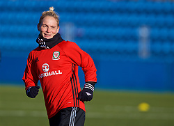 SAINT PETERSBURG, RUSSIA - Monday, October 23, 2017: Wales' Jessica Fishlock during a training session at the Petrovsky Minor Sport Arena ahead of the FIFA Women's World Cup 2019 Qualifying Group 1 match between Russia and Wales. (Pic by David Rawcliffe/Propaganda)