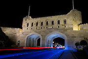 Muscat Gate Museum at night