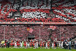 05.05.2012, Rhein Energie Stadion, Koeln, GER, 1. FC Koeln vs FC Bayern Muenchen, 34. Spieltag, im Bild Blick auf die Fankurve beim Einmarsch der Spieler // during the German Bundesliga Match, 34th Round between 1. FC Cologne and Bayern Munich at the Rhein Energie Stadium, Cologne, Germany on 2012/05/05. EXPA Pictures © 2012, PhotoCredit: EXPA/ Eibner/ Gerry Schmit..***** ATTENTION - OUT OF GER *****