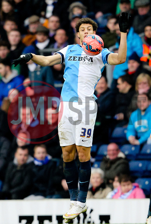 Rudy Gestede of Blackburn Rovers in action -  Photo mandatory by-line: Matt McNulty/JMP - Mobile: 07966 386802 - 14/02/2015 - SPORT - Football - Blackburn - Ewood Park - Blackburn Rovers v Stoke City - FA Cup - Fifth Round