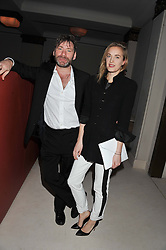 MATT COLLISHAW and POLLY MORGAN at a private dinner hosted by Lucy Yeomans in honour of Jason Brooks at The Cafe Royal, Regent Street, London on 13th February 2013.