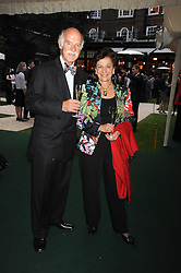 MR & MRS ANTON MOSIMANN at the Goring Hotel Summer party, Goring Hotel, 15 Beeston Place, London on 17th September 2008.