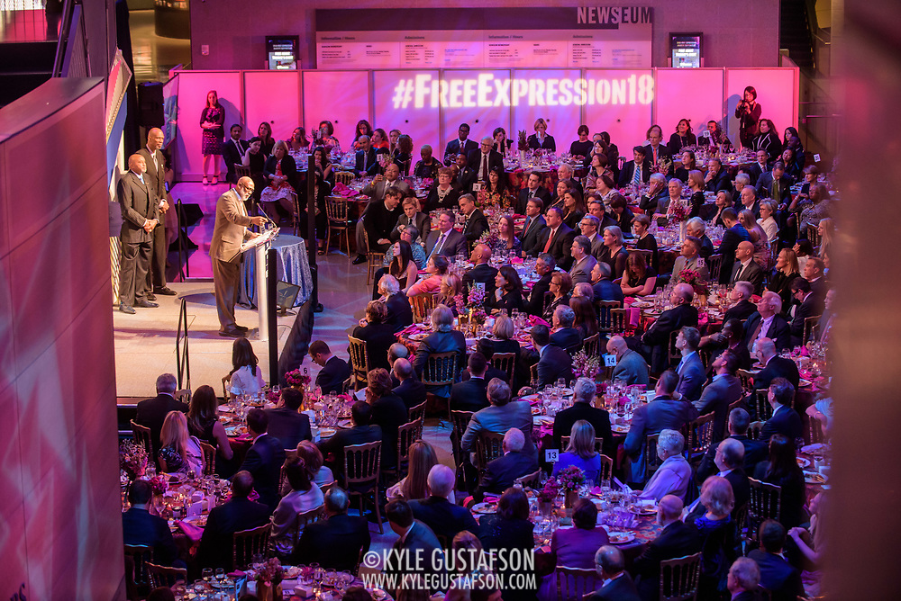 Tommie Smith, John Carlos and Kareem Abdul-Jabbar at the 2018 Free Expression Awards at The Newseum