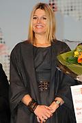 Prinses Maxima woont de uitreiking bij van het beste leerbedrijf 2010 in de Laurentius en Elisabeth kathedraal in Rotterdam.<br /> <br /> Princess Maxima attends the ceremony of the best training company in 2010 in the Lawrence and Elizabeth Cathedral in Rotterdam.<br /> <br /> Op de foto / On the Photo:  <br /> <br /> <br /> <br />  Prinses Maxima
