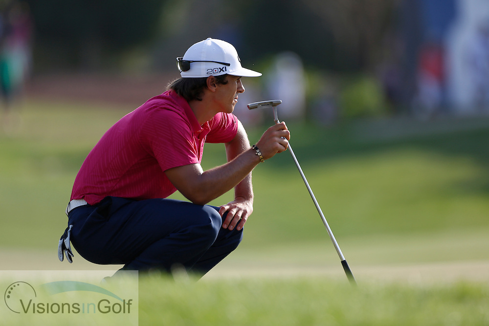 Thorbjorn OLESEN<br /> during the third round of the Race To Dubai DP World Tour Golf Championship, Dubai, UAE November  2013<br /> Picture Credit:  Mark Newcombe / www.visionsingolf.com
