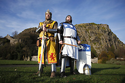 Me & My King - Historians Chris Pollock ( Right ) and Paul Hunter play the parts of Sir James Douglas and King Robert The Bruce promoting the role of Robert the Bruce.