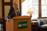 Dr. Robert Frank at a signing of a Memorandum of Understanding between Beijing International Studies University and Ohio University at Baker Center on October 15, 2013. Photo by Stephen Reiss.