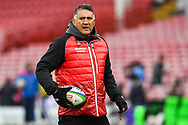 Jamie Joseph Head coach of Japan during the pre match warm up<br /> <br /> Photographer Craig Thomas<br /> <br /> Japan v Russia<br /> <br /> World Copyright &copy;  2018 Replay images. All rights reserved. 15 Foundry Road, Risca, Newport, NP11 6AL - Tel: +44 (0) 7557115724 - craig@replayimages.co.uk - www.replayimages.co.uk