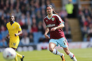 Burnley midfielder George Boyd (21)  during the Sky Bet Championship match between Burnley and Leeds United at Turf Moor, Burnley, England on 9 April 2016. Photo by Simon Davies.