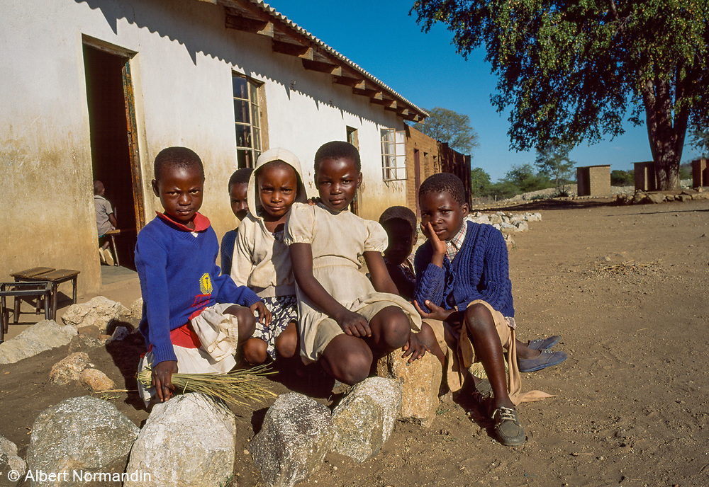 Girls Club, Detema School, Zimbabwe, May 1995