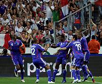Paris/Parigi 6/9/2006 Stade de France Eliminatorie Euro 2008. France Italy 3-1 Francia Italia 3-1. Photo Andrea Staccioli INSIDE/Digitalsport<br /> Sidney GOVOU celebrates after scoring with teammates Patrick VIEIRA, Thierry HENRY, Willy SAGNOL, Eric ABIDAL. Sidney GOVOU festeggia il primo gol con Patrick VIEIRA, Thierry HENRY, Willy SAGNOL, Eric ABIDAL<br /> Norway only