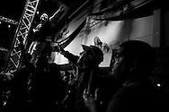 Hinchas del club 'Deportivo Camioneros' junto a fan&aacute;ticos de Lazarte gritan su nombre como muestra de apoyo al boxeador, club 'Deportivo Camioneros' ubicado en Villa Devoto, Ciudad Aut&oacute;noma de Bs. As., Argentina.<br /> El club 'Deportivo Camioneros', pertenece al 'Sindicato de Camioneros', organismo que nuclea a los empleados de trasporte y recolecci&oacute;n de residuos de Argentina. Adem&aacute;s este sindicato, es el &uacute;nico sponsor que apoya econ&oacute;micamente al boxeador.
