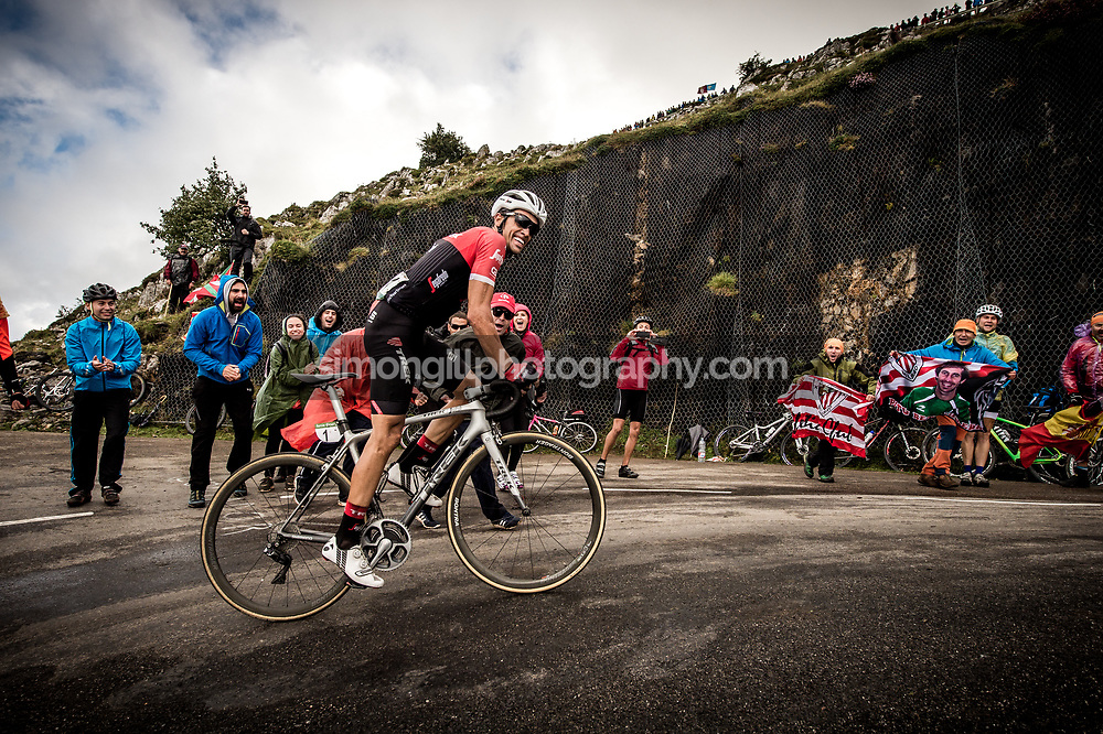 September 9th 2017, Alto de L'Angliru, Spain; Cycling, Vuelta a Espana Stage 20; Alberto Contador.