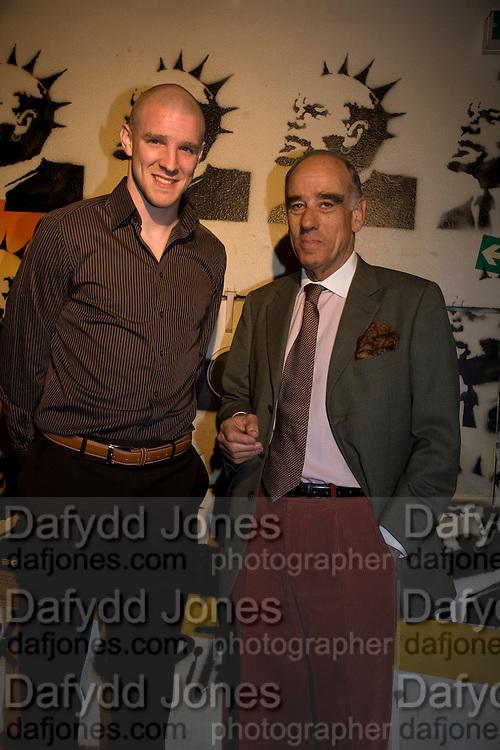 PHILIPPE SENDEROS AND  SWISS AMBASSADOR: ALEXIS P. LAUTENBERG, The launch of Your Game 2008. Swiss Ambassador's Residence car park. Bryanston Sq. London. W1. 28 February 2008.  *** Local Caption *** -DO NOT ARCHIVE-© Copyright Photograph by Dafydd Jones. 248 Clapham Rd. London SW9 0PZ. Tel 0207 820 0771. www.dafjones.com.