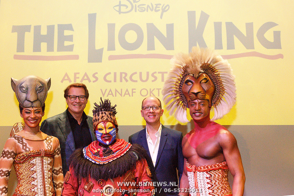 NLD/Amsterdam/20160216 - Musical The Lion King is terug!, producent Albert Verlinde, Stephen Crock