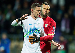 Milivoje Novakovic (SLO) and Samir Handanovic (SLO) during the UEFA EURO 2016 Play-off for Final Tournament, Second leg between Slovenia and Ukraine, on November 17, 2015 in Stadium Ljudski vrt, Maribor, Slovenia. Photo by Vid Ponikvar / Sportida