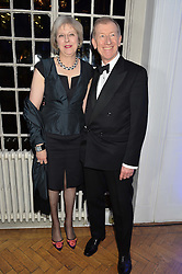 The Home Secretary THERESA MAY and PHILIP MAY at the Sugarplum Dinner in aid Sugarplum Children a charity supporting children with type 1 diabetes and raising funds for JDRF, the world's leading type 1 diabetes research charity held at One Marylebone, London on 18th November 2015.