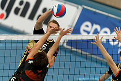 26-10-2019 NED: Talentteam Papendal - Draisma Dynamo, Ede<br /> Round 4 of Eredivisie volleyball - Nico Manenschijn #6 of Dynamo