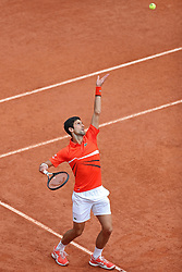 May 30, 2019 - Paris, France - Novak Djokovic (SRB) serves to Henri Laaksonen (SUI) during the French Open Tennis at Stade Roland-Garros, Paris on Thursday 30th May 2019. (Credit Image: © Mi News/NurPhoto via ZUMA Press)