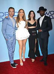 Photo Op with the cast of World of Dance - Universal City. 30 Jan 2018 Pictured: Derek Hough, Jennifer Lopez, Jenna Dewan Tatum, Ne Yo. Photo credit: Jaxon / MEGA TheMegaAgency.com +1 888 505 6342