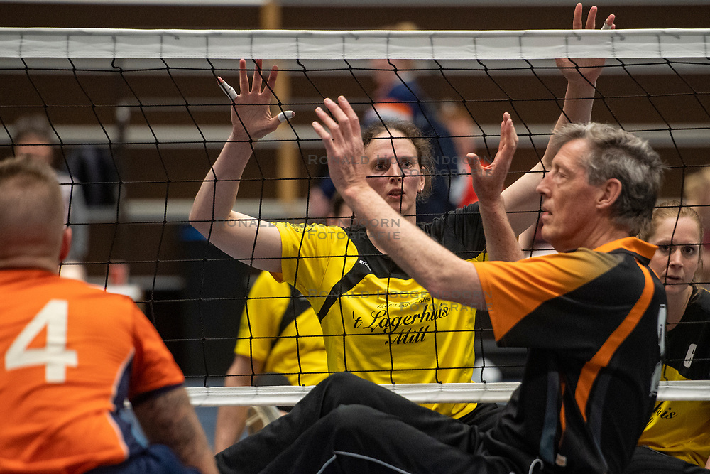 20-04-2019 NED: Dirk Kuyt Foundation Cup, Veenendaal<br /> National Cup sitting volleyball in Veenendaal / vv Apollo Mill vs. Allvo II