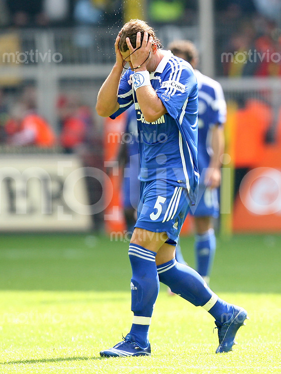 Fussball   1. Bundesliga   Saison 2006/2007   33. Spieltag Borussia Dortmund - FC Schalke 04             Marcelo BORDON (Schalke) enttaeuscht