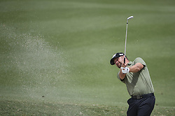 October 12, 2018 - Kuala Lumpur, Malaysia - Ryan Moore of the USA hits a shot out of bunker during the second round of 2018 CIMB Classic golf tournament in Kuala Lumpur, Malaysia on October 12, 2018. (Credit Image: © Zahim Mohd/NurPhoto via ZUMA Press)