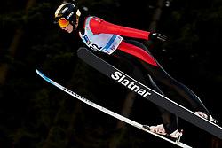 February 7, 2019 - Ljubno, Savinjska, Slovenia - Daniela Haralambie of Romania competes on qualification day of the FIS Ski Jumping World Cup Ladies Ljubno on February 7, 2019 in Ljubno, Slovenia. (Credit Image: © Rok Rakun/Pacific Press via ZUMA Wire)