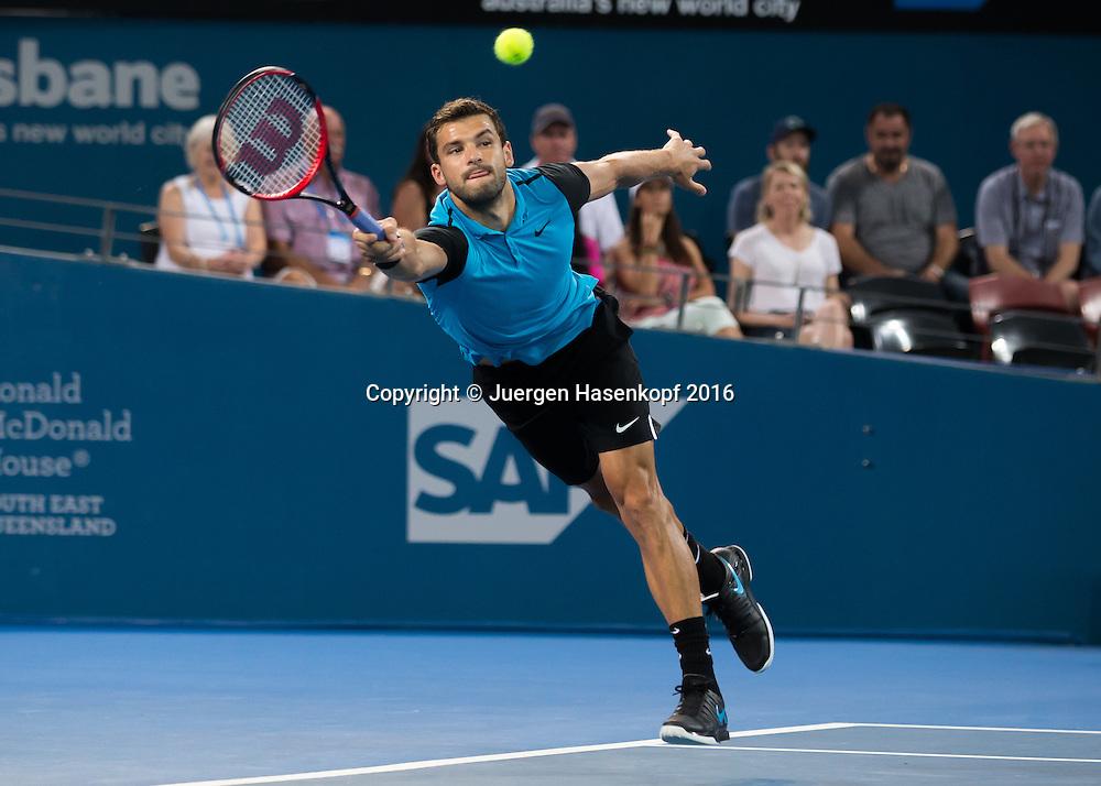 Grigor Dimitrov (BUL)<br /> <br /> Tennis - Brisbane International  2016 - ATP -  Queensland Tennis Centre - Brisbane - QLD - Australia  - 8 January 2016. <br /> &copy; Juergen Hasenkopf