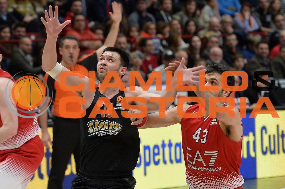 Papanikolaou Kostas<br /> EA7 Emporio Armani Olimpia Milano - Olympiacos Piraeus<br /> Euroleague 2016/2017<br /> Milano 25/01/2017<br /> Foto Ciamillo-Castoria