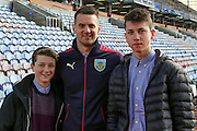 Burnley goalkeeper Thomas Heaton (1) with the fans  during the Sky Bet Championship match between Burnley and Leeds United at Turf Moor, Burnley, England on 9 April 2016. Photo by Simon Davies.