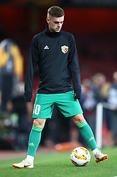 September 20, 2018 - London, England, United Kingdom - Taras Sakiv of FC Vorskla Poltava.during UAFA Europa League Group E between Arsenal and FC Vorskla Poltava at Emirates stadium , London, England on 20 Sept 2018. (Credit Image: © Action Foto Sport/NurPhoto/ZUMA Press)