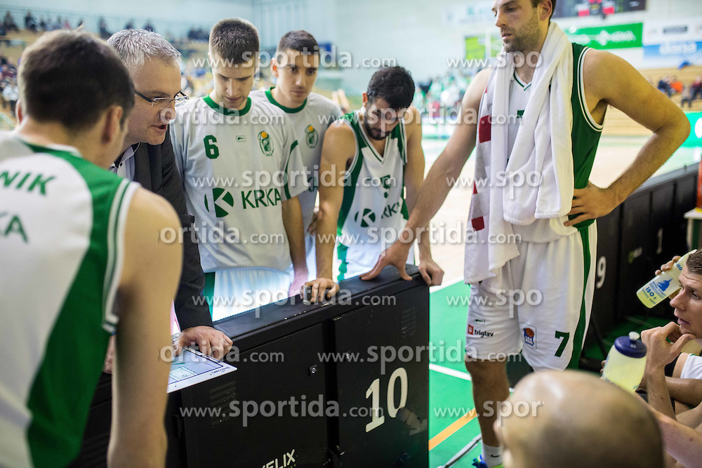 Ivan Velic, head coach of Krka during basketball match between KK Krka and KK Tajfun in 16th Round of ABA League 2015/16, on December 22, 2015 in Arena Leon Stukelj, Novo mesto, Slovenia. Photo by Vid Ponikvar / Sportida