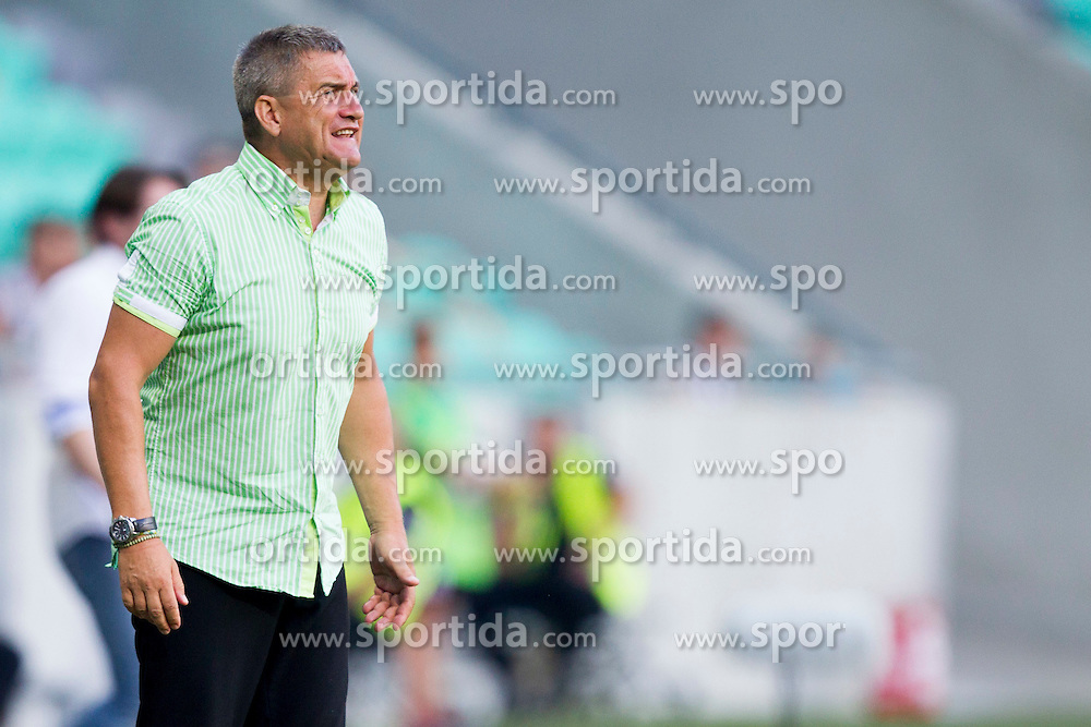 Marjan Pusnik, head coach of NK Olimpija Ljubljana during football match between NK Olimpija Ljubljana and NK Rudar Velenje in 8th Round of Prva liga Telekom Slovenije 2015/16, on August 30, 2015 in SRC Stozice, Ljubljana, Slovenia. Photo by Urban Urbanc / Sportida