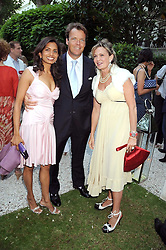 Left to right, COUNTESS MAYA VON SCHONBURG and JOEL & DIVIA CADBURY at the Tatler Summer Party, The Hempel Hotel, 31-35 Craven Hill Gardens, London W2 on 25th June 2008.<br />