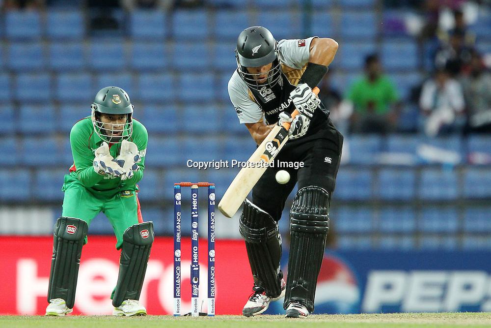 Ross Taylor (Captain) during the ICC World Twenty20 Pool match between New Zealand and Bangladesh held at the  Pallekele Stadium in Kandy, Sri Lanka on the 21st September 2012<br /> <br /> Photo byRon Gaunt/SPORTZPICS/PHOTOSPORT