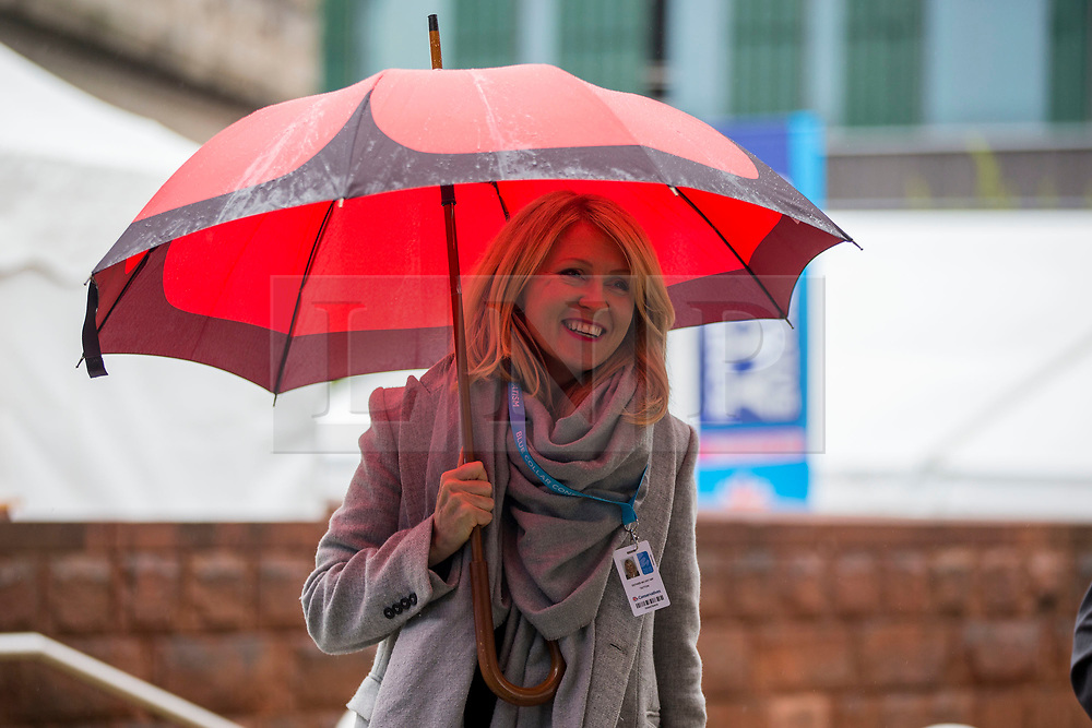 © Licensed to London News Pictures. 29/09/2019. Manchester, UK. Housing Minister Esther McVey on first day of the Conservative Party Conference at Manchester Central in Manchester. Photo credit: Andrew McCaren/LNP