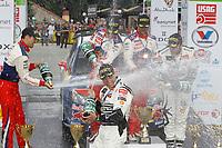 MOTORSPORT - WORLD RALLY CHAMPIONSHIP 2010 - RALLY BULGARIA / RALLYE DE BULGARIE - BOROVETS (BUL) - 08 TO 11/07/2010 - PHOTO : FRANCOIS BAUDIN / DPPI - <br /> SEBASTIEN LOEB (FRA) / DANIEL ELENA (MON) - CITROEN TOTAL RALLY TEAM - CITROEN C4 WRC - PODIUM - AMBIANCE DANI SORDO (SPA) / MARC MARTI (SPA) - CITROEN TOTAL RALLY TEAM - CITROEN C4 WRC - SOLBERG Petter / PATTERSON Chris - PETTER SOLBERG WORLD RALLY TEAM - CITRÖEN C4 WRC -