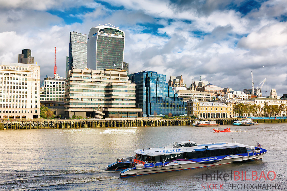 City view and Thames river. London. Great Britain, Europe.