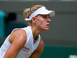 LONDON, ENGLAND - Monday, July 9, 2018: Angelique Kerber (GER) during the Ladies' Singles 4th Round match on day seven of the Wimbledon Lawn Tennis Championships at the All England Lawn Tennis and Croquet Club. (Pic by Kirsten Holst/Propaganda)