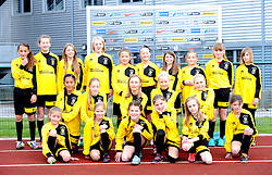 Young players from Melksham Town FC at Stoke Gifford Stadium where they performed mascot duties for Bristol Academy Women - Mandatory by-line: Paul Knight/JMP - Mobile: 07966 386802 - 04/10/2015 -  FOOTBALL - Stoke Gifford Stadium - Bristol, England -  Bristol Academy Women v Liverpool Ladies FC - FA Women's Super League