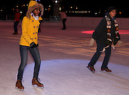 Jonica Springer, 16 of Dayton (left) during Horse-Drawn Carriage Rides & Star Late Skate night at RiverScape MetroPark in downtown Dayton, Saturday, December 18, 2010.