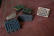 India, Rajasthan, Pushkar, Block-printing involves printing of cloth with carved wooden blocks. The wooden blocks